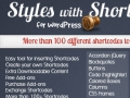 100 built in Shortcodes